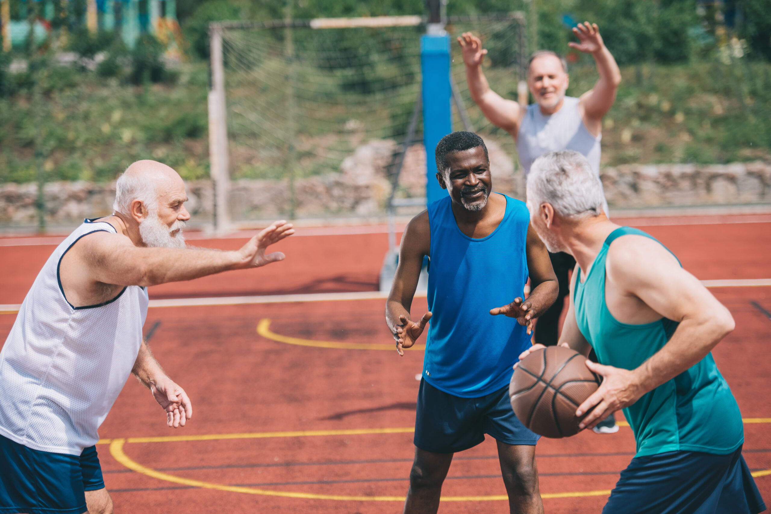 adults playing sports