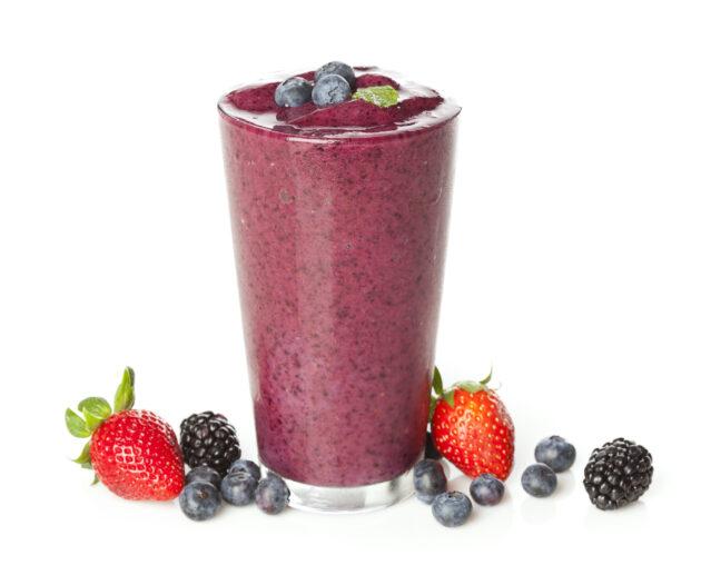 blueberry smoothie.